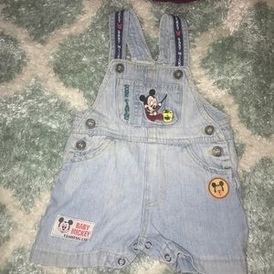 Mickey Mouse vintage baby overalls size 6/9